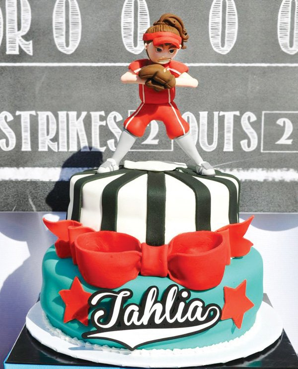 Astonishing Slammin Softball Birthday Tween Party Hostess With The Mostess Personalised Birthday Cards Paralily Jamesorg