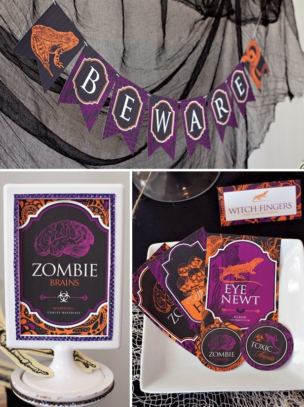 Halloween Printables - Banner Signs Labels
