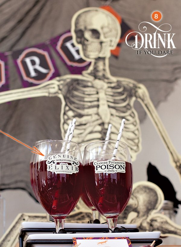 halloween drinks - ghoulegranate punch