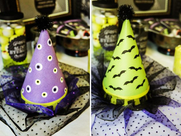 bat and eyeball halloween hats