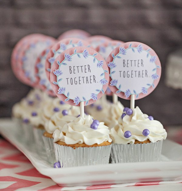 Lavender Better Together Twin Girls Baby Shower Hostess With