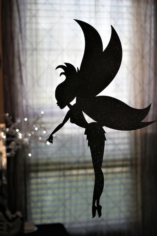 black glitter twilight fairy