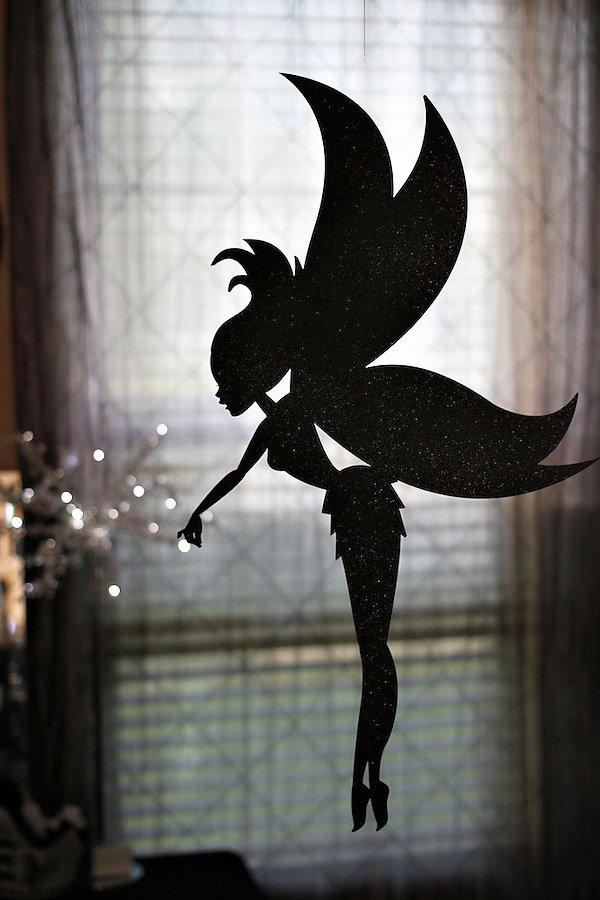 black glitter twilight fairy