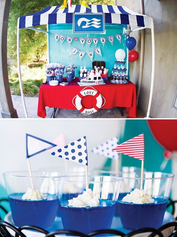love boat bon voyage themed going away party