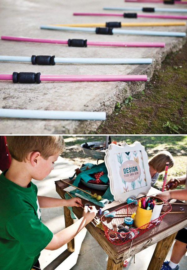 decorate your own bow and arrow party activity