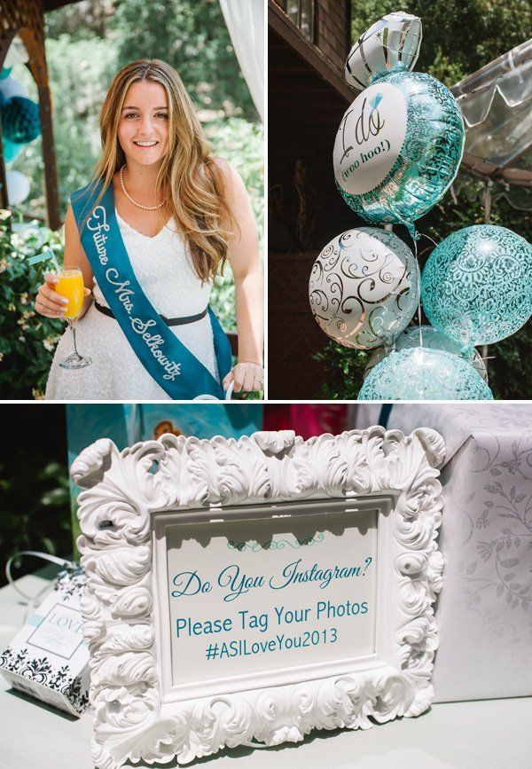 4d9c60ddcd421 Sweet & Chic} Teal Bridal Shower Luncheon // Hostess with the Mostess®