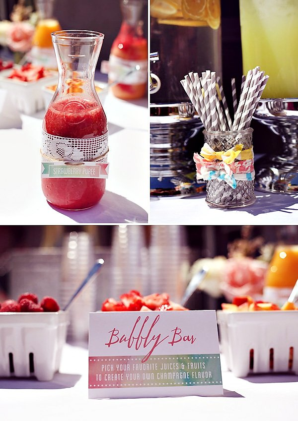 Baby Shower Bubbly bar