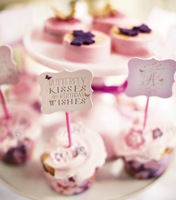 butterfly kisses and birthday wishes cupcakes