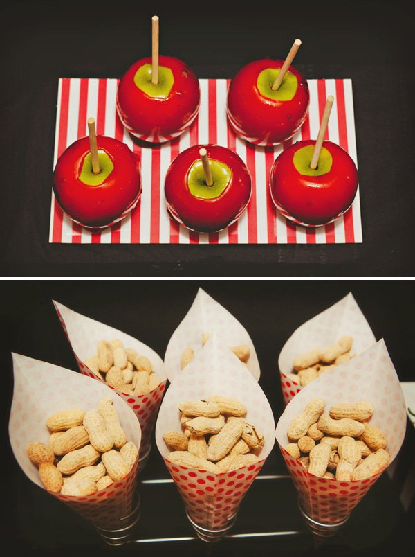 candy apples for a carnival party