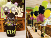 monster jam party centerpiece