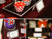 chevron cupcake wrappers for a cute halloween party