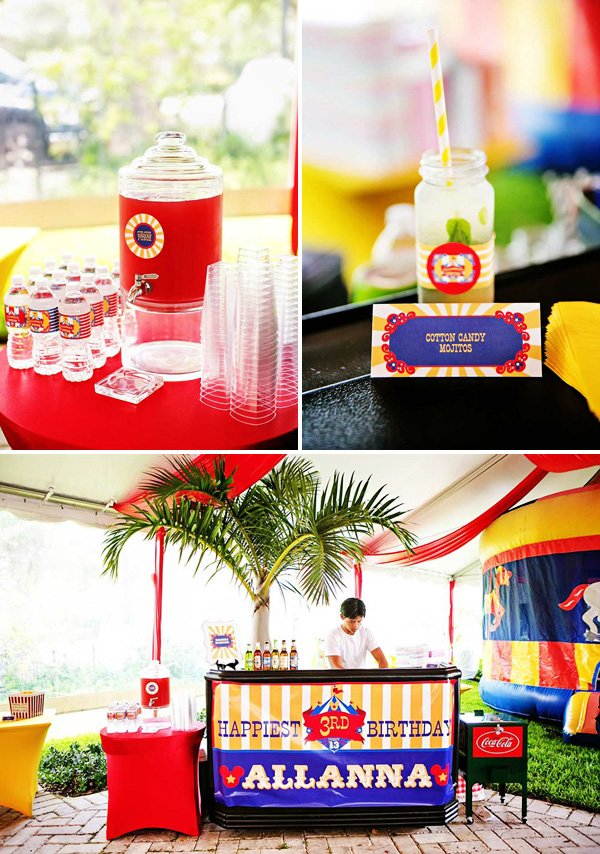 circus party drinks