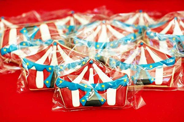circus tent sugar cookies