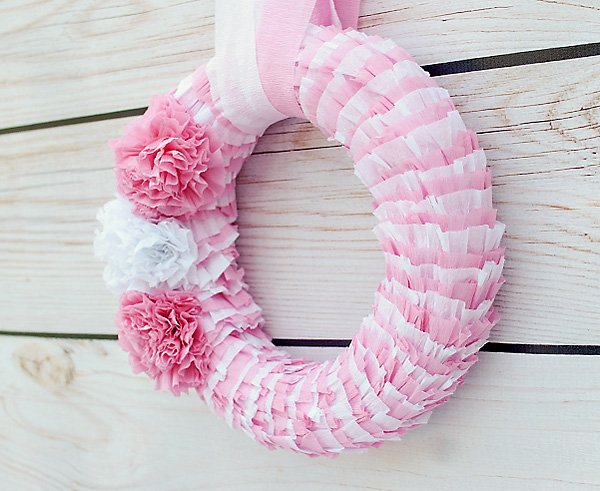 crepe paper wreath