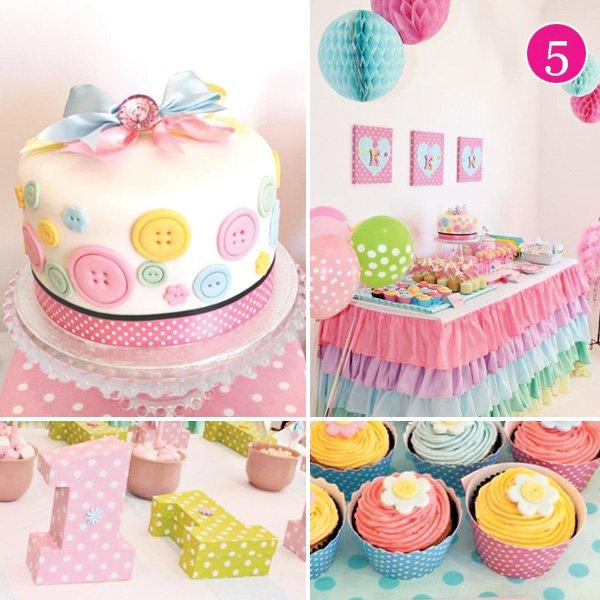 Cute as a Button 1st Birthday