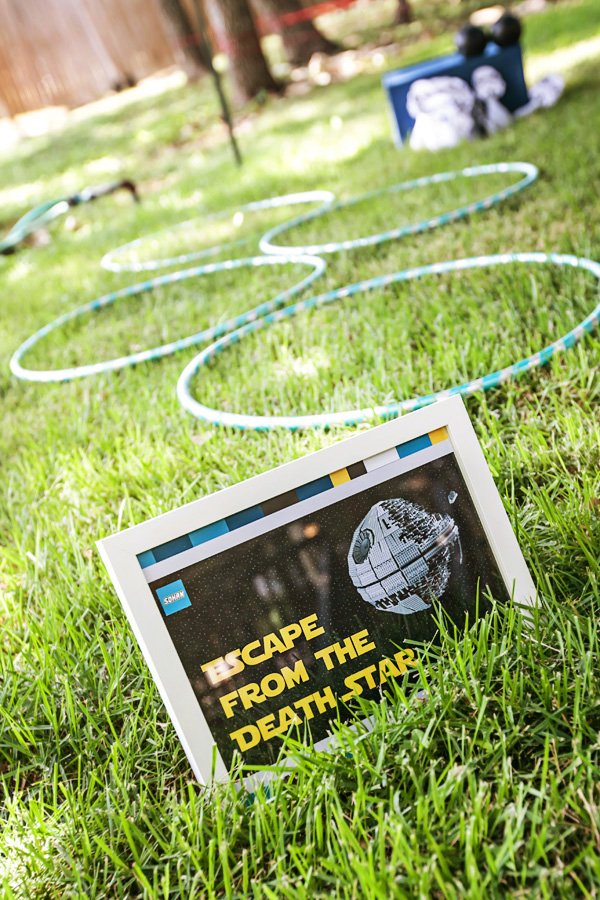 death star obstacle course for a star wars birthday party