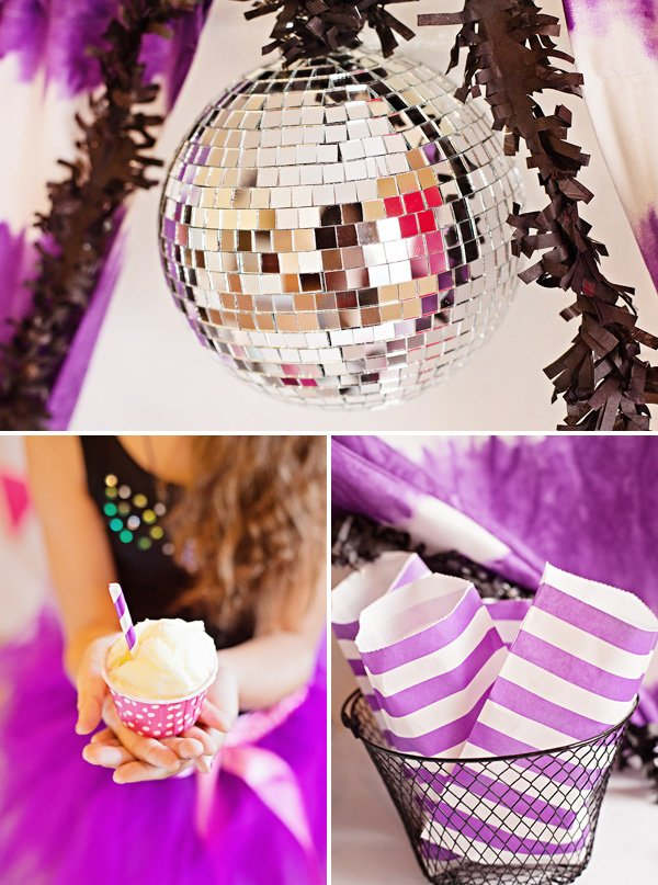 disco ball for a girls dance birthday