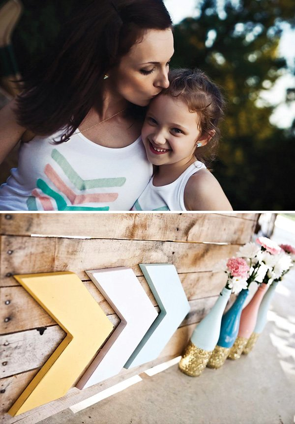 DIY bow and arrow decorations
