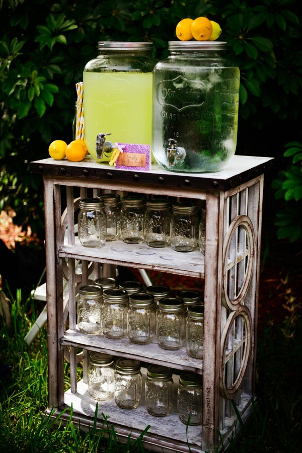 rustic drink station for a royal affair