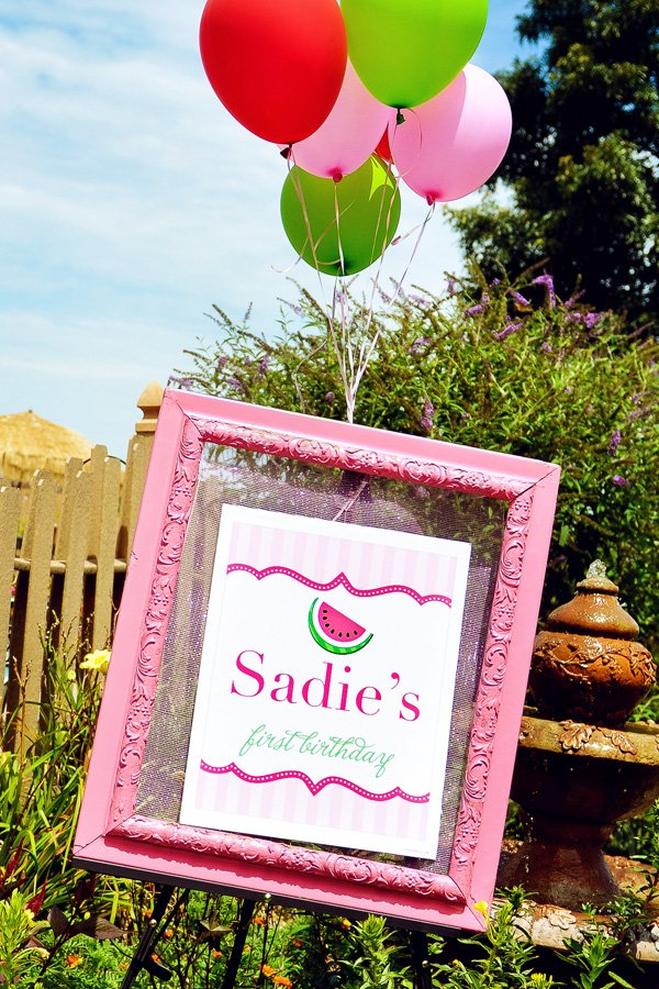 first birthday welcome sign