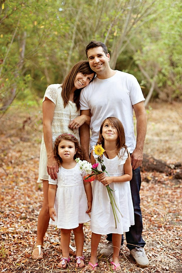 flower family photo session
