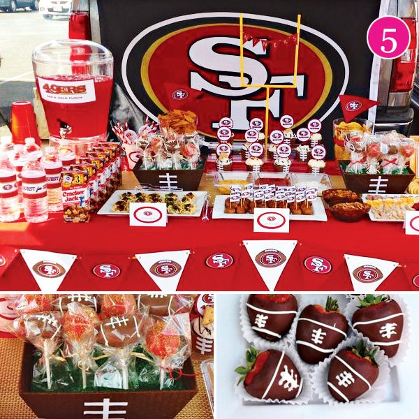 Party of 5 glam baby shower ocean 12th birthday for 49ers bathroom decor