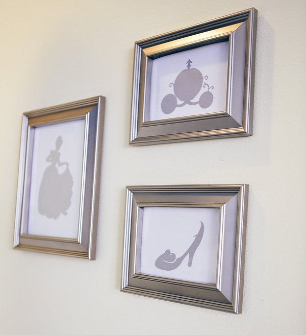framed Cinderella party silhouettes