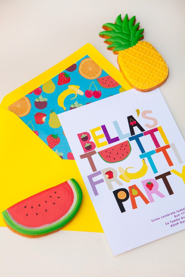 fruit themed invitation