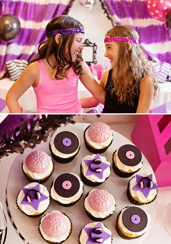 girls pink and purple party outfits