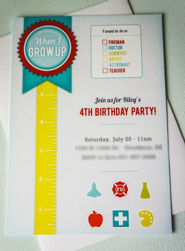 grow up party invitation