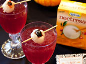 lychee drink garnishes for halloween