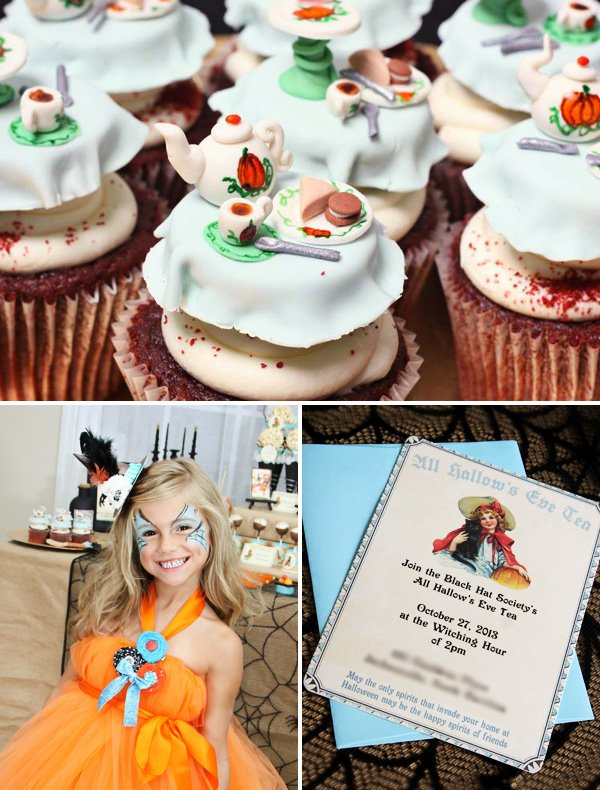 halloween tea party invitation