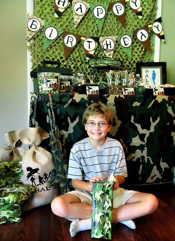 {Camo Covered} Halo Themed Birthday Party // Hostess with the Mostess®