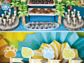 jungle dessert table