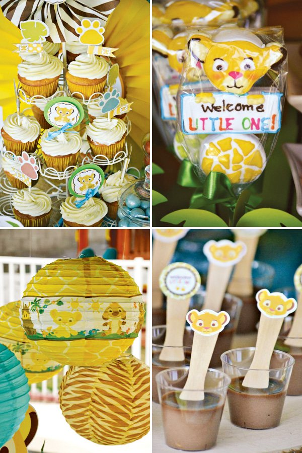 simba inspired baby shower