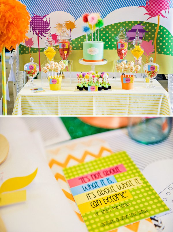 lorax dessert table
