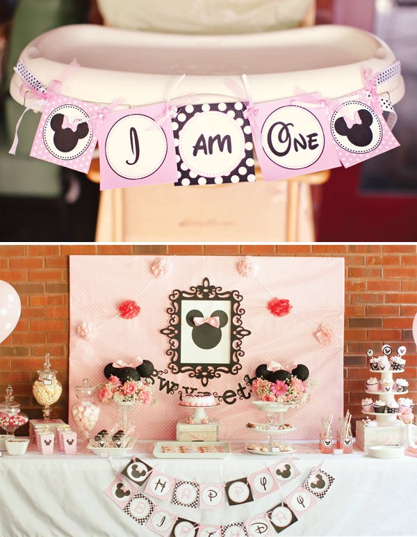 minnie dessert table