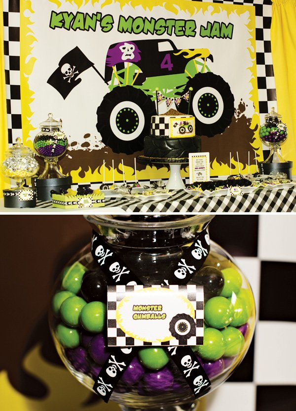 monster jam dessert table