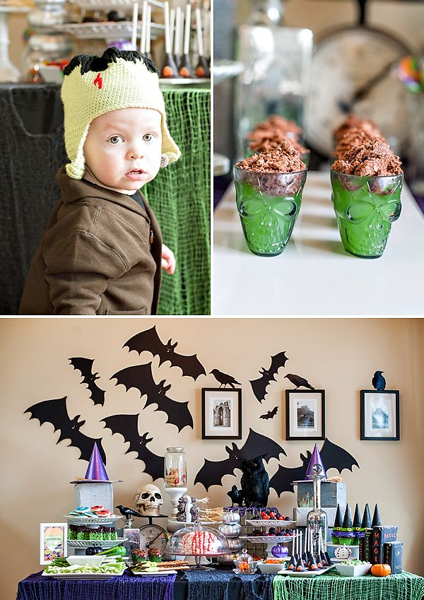 monster themed dessert table