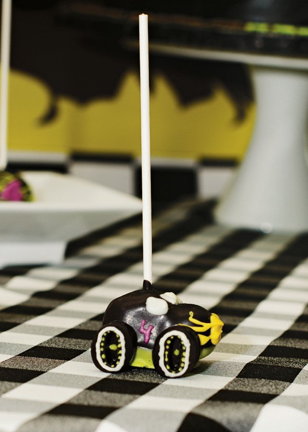 monster truck cake pops