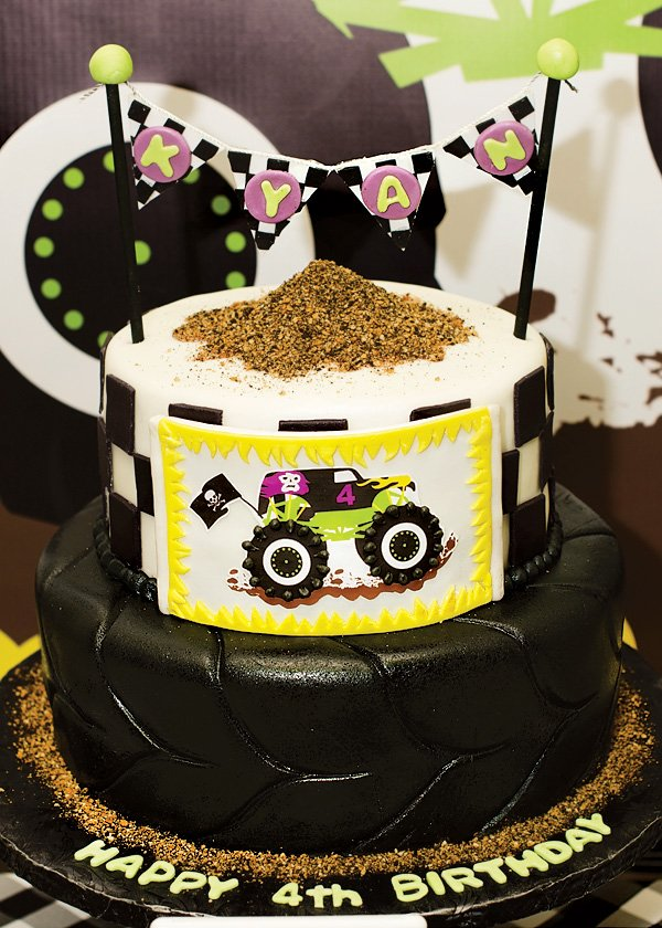 monster truck cake epic grave digger themed jam hostess with 6009