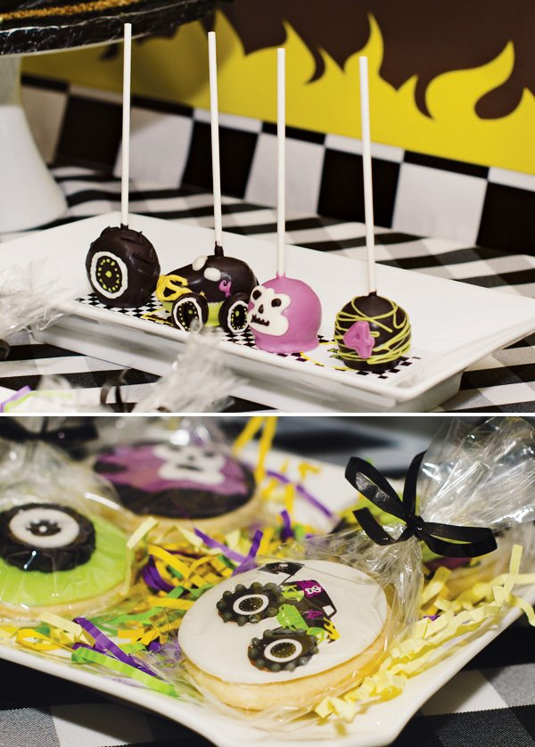 monsterjam cake pops