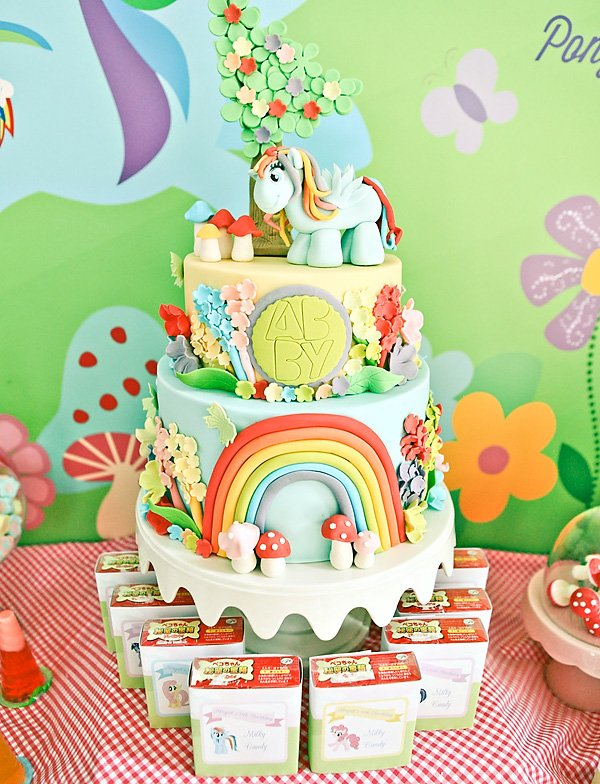 my little pony birthday party cake