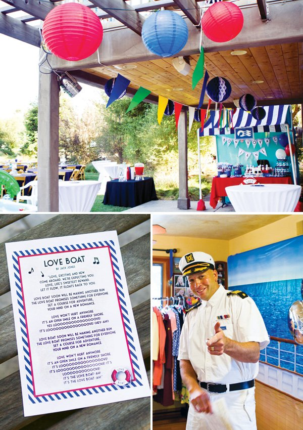 nautical love boat oarty with staff costumes and theme song