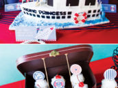 nautical love boat cruise ship cake and cupcakes