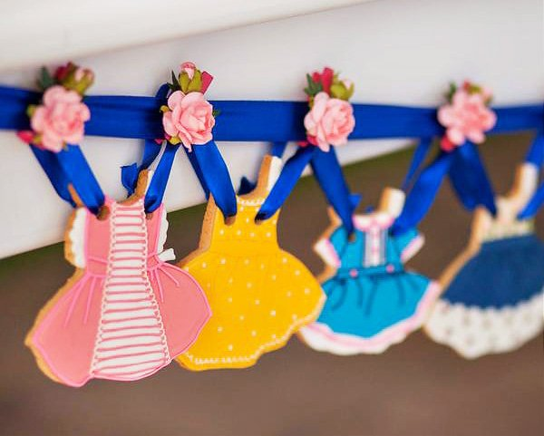 paper doll dress cookies