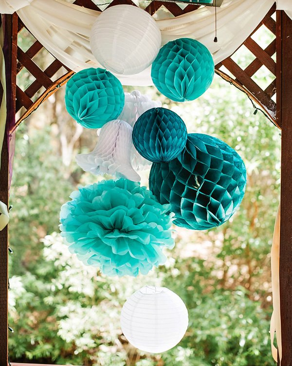 Sweet & Chic} Teal Bridal Shower Luncheon // Hostess with the Mostess®