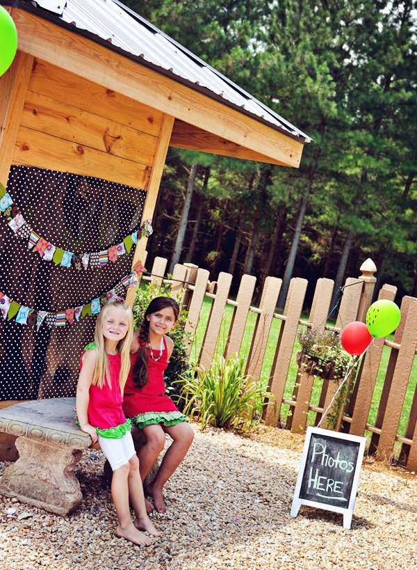 watermelon party photo booth