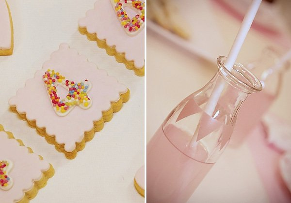 Pink Banner Milk Jar Decor