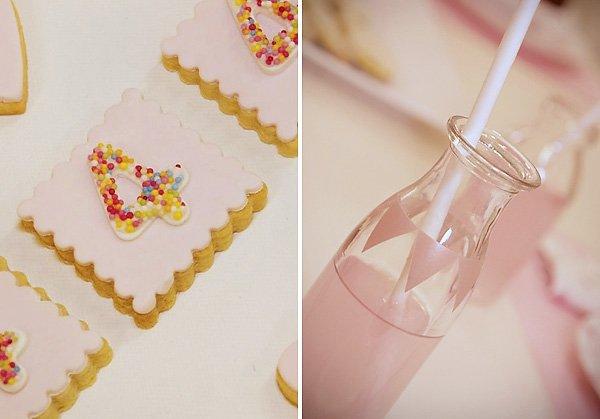 Pink Banner Milk Jar Decor